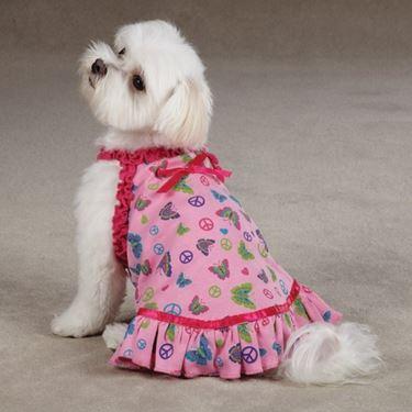 Cagnolina con vestitino rosa
