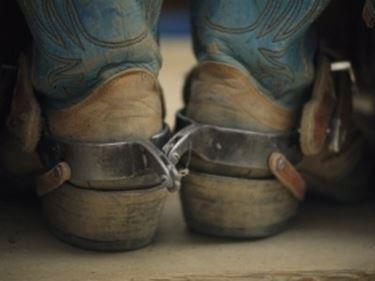 Particolare stivali cowboy