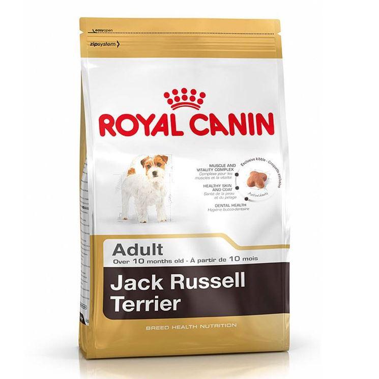 Una busta di cibo esclusivo per Jack Russell