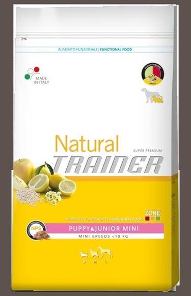 Alimento Super Premium per cuccioli e giovani sotto i dieci chili della gamma Natural Trainer