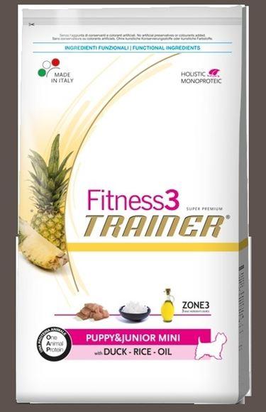 Confezione Fitness3 all'anatra, riso e olio, per cuccioli e giovani.