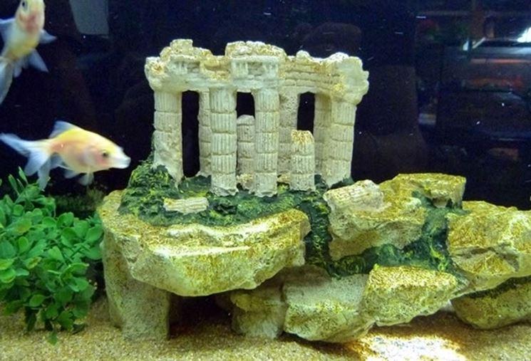 Esempio di decorazione per acquari