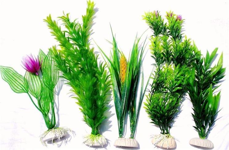 Piante finte acquario piante acquario acquario con for Accessori per laghetti artificiali