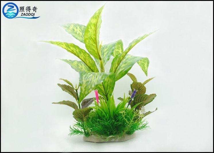 Composizione di piante finte